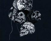Hanging skull prints