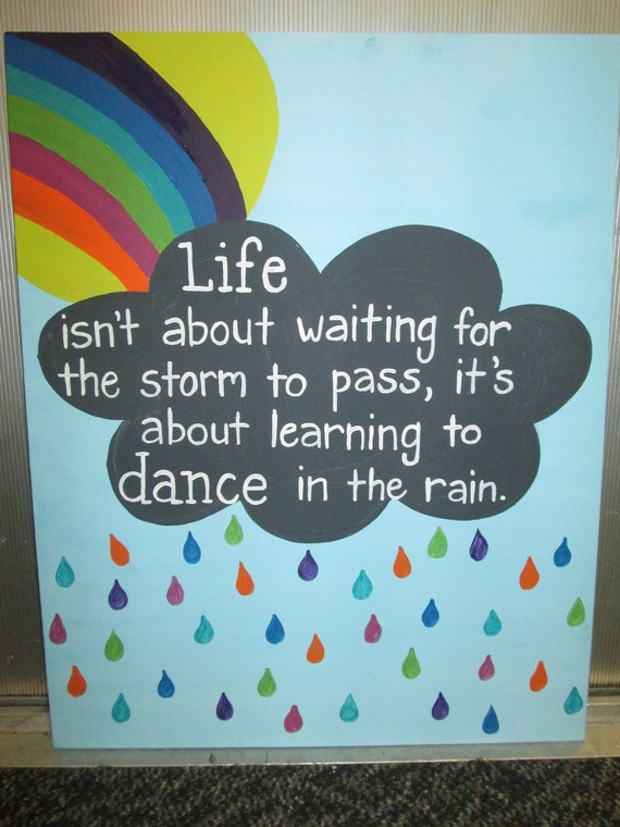 Original Art Canvas Painting Quote Life Isn T About