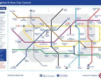 """40x20"""" - Brighton Underground on Canvas"""