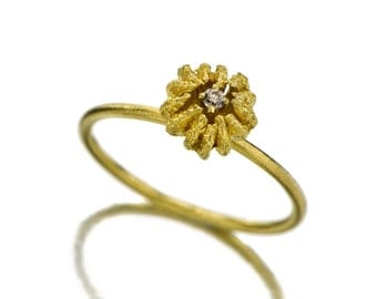 Anniversary ring - Gold Ring - 18K Gold Ring - Diamond Ring - Seeds Collection - Free Shipping!!! .