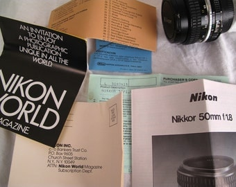 Nikon Nikkor 50mm f/1.8 Lens With Original Packaging COLLECTORS