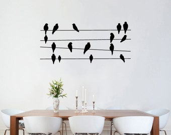 Wall sticker decals - Birds On Wires Wall Stickers wall vinyl decal sticker nature art