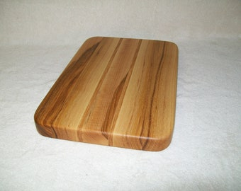 Solid Hickory Cutting Board with Hickory Accent Stripes