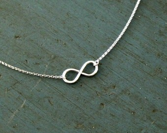 Gold Infinity Necklace Minimalist, Plated, As seen on wanelo