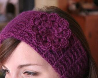 Crochet Pattern HEADBAND Women Hat PDF Pretty Flower The CRISTINA