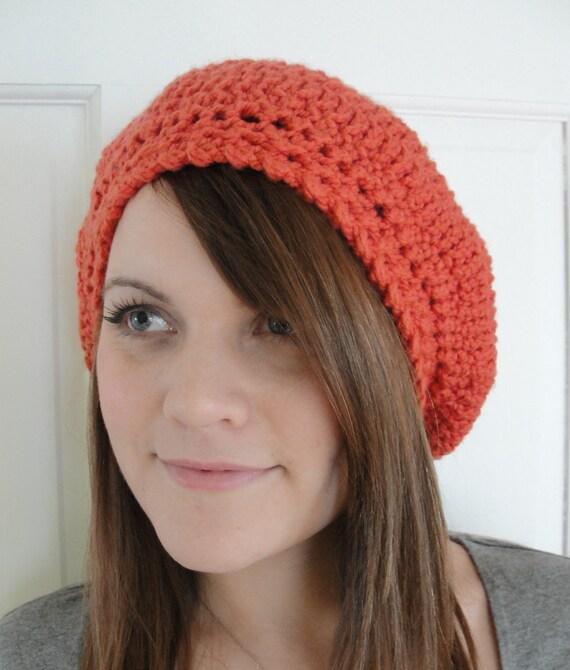 Crochet Beret Hat Pattern Easy : Easy CROCHET PATTERN Hat Women Slouchy Beret Slouchy Hat
