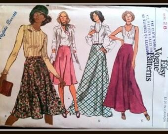 Vogue 9117  Misses' Skirt  Size  28 Uncut