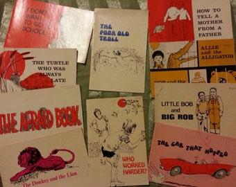 Vintage Bookshop Children Reading Books lot of 10