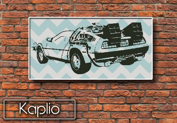 DeLorean (Back to the Future) Cross Stitch Pattern [PDF FILE]