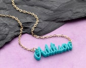 Personalized Name Necklace Acrylic Necklace 14 colors Back to School