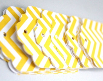 25 Yellow chevron tags, yellow chevron paper,yellow paper tags,yellow wedding tags,yellow striped tags,chevron tags,yellow gift tags