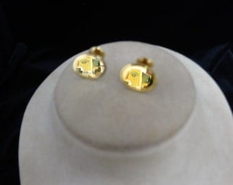 Engraveable Goldtone Cuff Links
