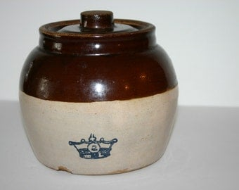 Vintage Old Family Clay Bean Pot