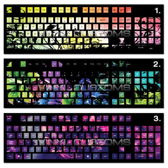 Pc Mechanical Keyboard Cherry Mx Keycaps Vinyl Decal Sticker