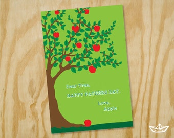 Apple to Tree Fathers Day Card Printable