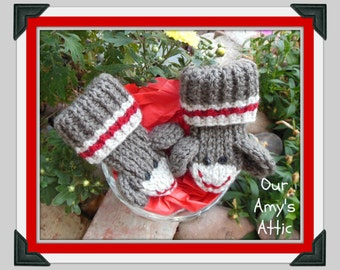 Popular items for sock monkey booties on Etsy