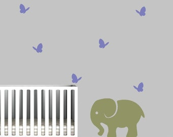 Nursery Wall Decal with jungle animals