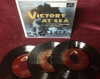 "Vintage Records - 1950s ""Victory at Sea"" Soundtrack Set 45s"