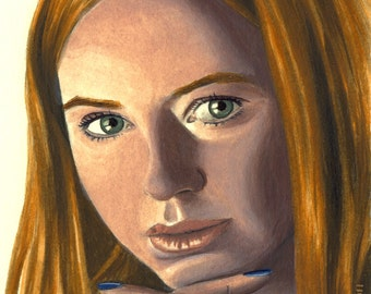 DOCTOR WHO 'Amy Pond' - Original Painting (gouache on paper)