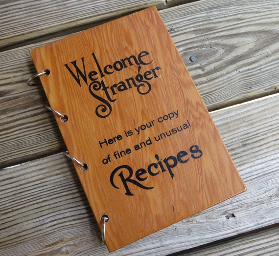 Wood Cover Cookbook : Vintage cookbook wood cover welcome wagon by