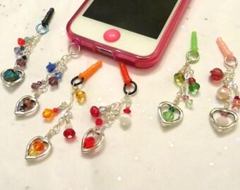 Choose your color-- I Heart Color cell phone charm, dust plug charm, shower favor