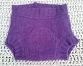 Large purple wool soaker