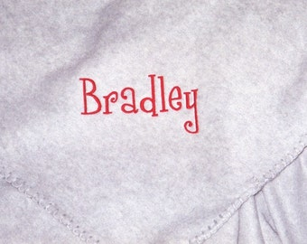 Custom Embroidered Fleece Blanket