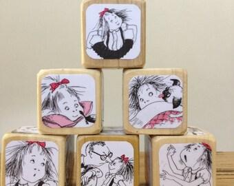 Eloise Blocks // Childrens Book Blocks // Natural Wood Toy