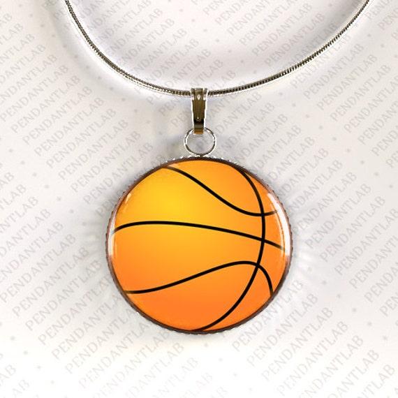 basketball pendant basketball jewelry basketball by pendantlab