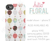 Multi print hot air balloon iPhone 4/4S 5 5c 5s Samsung Galaxy S2 S3 S4 Ace iPod Touch 4th 5th hard case