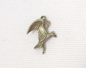 Vintage Sterling Silver Charm for Bracelet Flying Eagle Bird
