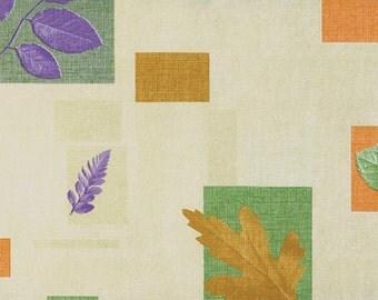 """55"""" Autumn OilCloth with Felt Back - 1 Yard"""