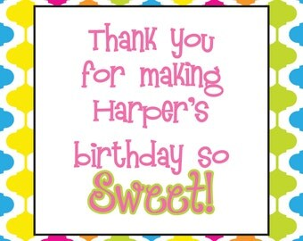 Gumdrops and Lollipops Candyland Cupcake Toppers, Food Labels, or Favor Tags