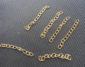 200pcs of 4.5-5cm Long x 3mm wide Exquisite plated Gold Tail Chain