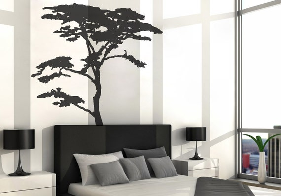 Vinyl Art Decal Realistic African Tree Wall Sticker Decals