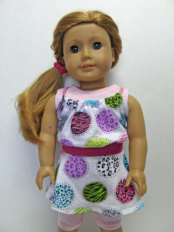 American Girl Doll Clothes - 4 pc skirt, tank top, baby doll top and capri leggings 18 inch doll clothes