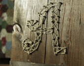 Wooden Letter Wall Hanging.  Decorative Alphabet Initial wall decor