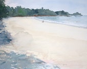 A Walk in the Sand orginal watercolor painting 16 x 12