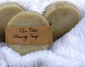 Tea Tree Shaving Soap, shaving soap, tea tree soap, organic soap, vegan soap, handmade soap, natural soap