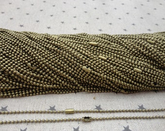 25pcs antique bronze Ball Chain Necklaces with connectors.. 27.5 inch Chain 2.0 mm wholesale--MN64