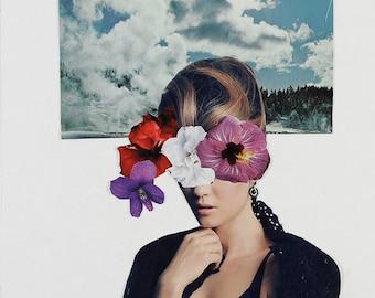 Floral Dreams 1 - Paper Collage