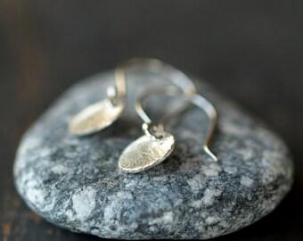Mini Sparkle Earrings, Sterling Silver Circle Earrings, Sweet Drop Earrings, Petite Dangles, Everyday Earrings, Casual Jewelry