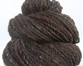 Handspun Yarn handcarded baby alpaca merino silk sparkle yarn