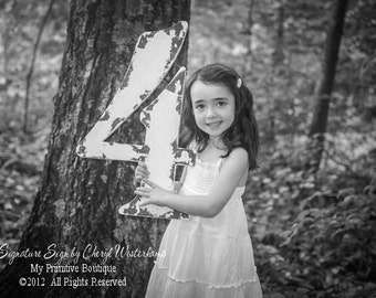 Rustic WOODEN NUMBERS | Wooden Guest Book Idea | Birthday Photo Props | Large Wooden Numbers | Numbers Made of Wood | Rustic Number 4 | DIY
