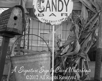 CANDY BAR SIGN | Wedding Sign | Free Standing | Pedestal Stand | Love is Sweet | Love Sweet Love | Popcorn Bar | Dessert Table | Wooden