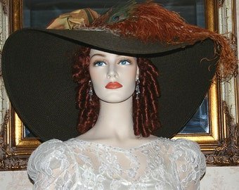 "Edwardian Titanic Hat Kentucky Derby Hat - Triple Crown - 24"" Brim"