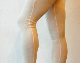 Bamboo Leggings, Handmade, Cream