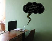 "Thundercloud Chalkboard  Wall Decal - 23"" x 26"""