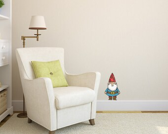 Wee Happy Gnome Wall Decal
