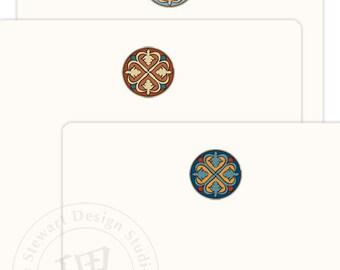 MarrakechCats Medallions Assorted Flat Cards - Set of 12